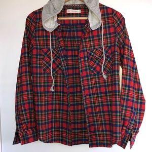 Jackets & Blazers - Flannel hoodie